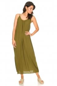 Genesis |  Maxi dress with crêpe fabric Melia | green  | Picture 3
