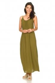 Genesis |  Maxi dress with crêpe fabric Melia | green  | Picture 4
