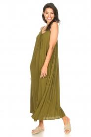 Genesis |  Maxi dress with crêpe fabric Melia | green  | Picture 2