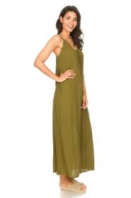 Genesis |  Maxi dress with crêpe fabric Melia | green  | Picture 5