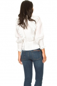Notes Du Nord |  Cotton blouse with ruffles Tenna | white  | Picture 6