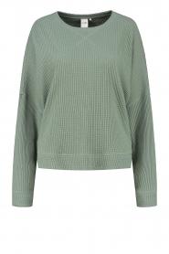 Lune Active |  Cotton sweater Ella | green  | Picture 1
