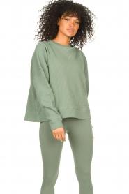 Lune Active |  Cotton sweater Ella | green  | Picture 4