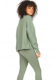 Lune Active |  Cotton sweater Ella | green  | Picture 7
