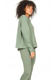 Lune Active |  Cotton sweater Ella | green  | Picture 5