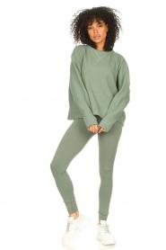 Lune Active |  Cotton sweater Ella | green  | Picture 3