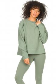 Lune Active |  Cotton sweater Ella | green  | Picture 2