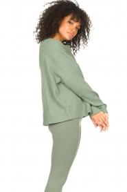 Lune Active |  Cotton sweater Ella | green  | Picture 6