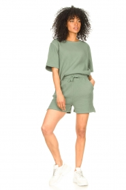 Lune Active |  Cotton shorts Ella | green  | Picture 3