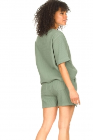 Lune Active |  Cotton shorts Ella | green  | Picture 5