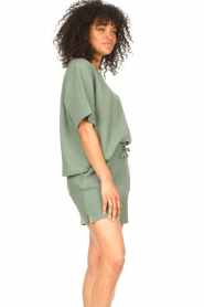 Lune Active |  Cotton T-shirt Ella | green  | Picture 4
