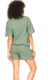 Lune Active |  Cotton T-shirt Ella | green  | Picture 5