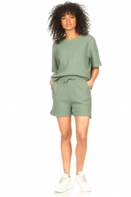 Lune Active |  Cotton T-shirt Ella | green  | Picture 3