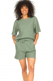 Lune Active |  Cotton T-shirt Ella | green  | Picture 2
