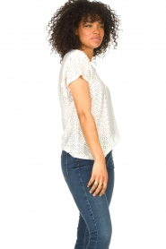 Aaiko |  Broderie top Sally | white  | Picture 5