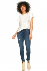 Aaiko |  Broderie top Sally | white  | Picture 3