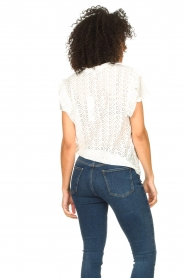 Aaiko |  Broderie top Sally | white  | Picture 7
