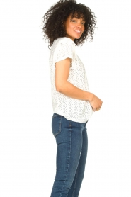 Aaiko |  Broderie top Sally | white  | Picture 6