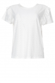Aaiko |  Broderie top Sally | white  | Picture 1
