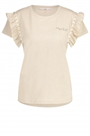 Aaiko    T-shirt with ruffles Sally   natural    Picture 1