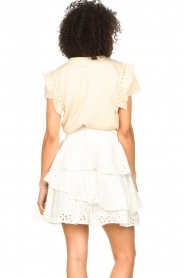 Aaiko    T-shirt with ruffles Sally   natural    Picture 6