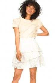 Aaiko    T-shirt with ruffles Sally   natural    Picture 4