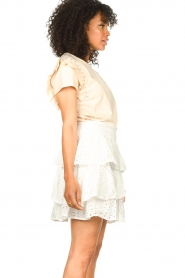 Aaiko    T-shirt with ruffles Sally   natural    Picture 5