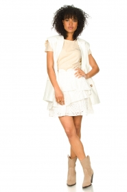 Aaiko    T-shirt with ruffles Sally   natural    Picture 3