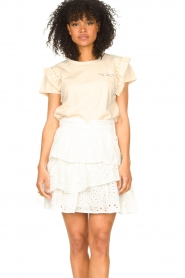 Aaiko    T-shirt with ruffles Sally   natural    Picture 2