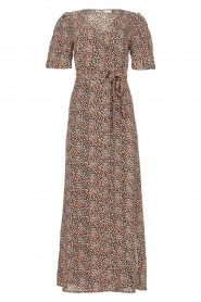 Aaiko |  Maxi dress with print Mirra | black  | Picture 1