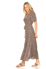 Aaiko |  Maxi dress with print Mirra | black  | Picture 5