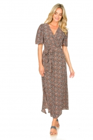 Aaiko |  Maxi dress with print Mirra | black  | Picture 4
