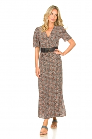 Aaiko |  Maxi dress with print Mirra | black  | Picture 3