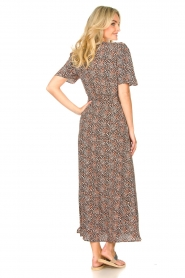 Aaiko |  Maxi dress with print Mirra | black  | Picture 6
