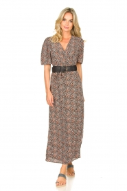 Aaiko |  Maxi dress with print Mirra | black  | Picture 2