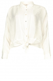 Aaiko |  Blouse with tie detail Vanissa | white  | Picture 1