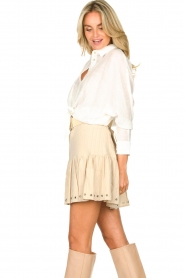 Aaiko |  Blouse with tie detail Vanissa | white  | Picture 5