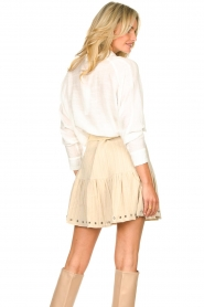 Aaiko |  Blouse with tie detail Vanissa | white  | Picture 6