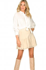 Aaiko |  Blouse with tie detail Vanissa | white  | Picture 2