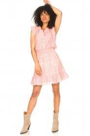 Aaiko |  Dress with ruffles Fajenna | white  | Picture 3