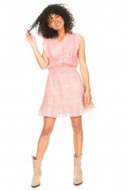 Aaiko |  Dress with ruffles Fajenna | white  | Picture 4