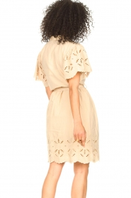 Aaiko |  Cotton broderie dress Caima | beige  | Picture 6