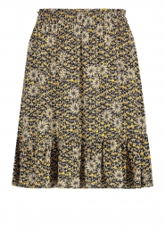 Aaiko |  Skirt with floral print Mabel | black  | Picture 1