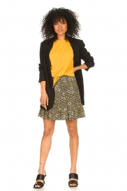 Aaiko |  Skirt with floral print Mabel | black  | Picture 3