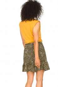 Aaiko |  Skirt with floral print Mabel | black  | Picture 5