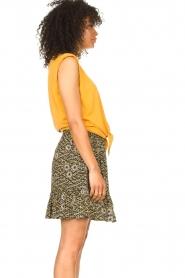 Aaiko |  Skirt with floral print Mabel | black  | Picture 4