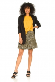 Aaiko |  Top with knotted detail Marcella | orange  | Picture 3
