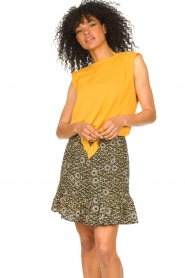Aaiko |  Top with knotted detail Marcella | orange  | Picture 4
