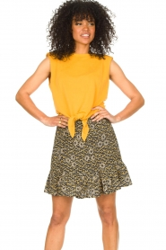 Aaiko |  Top with knotted detail Marcella | orange  | Picture 2