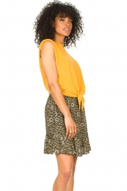 Aaiko |  Top with knotted detail Marcella | orange  | Picture 5